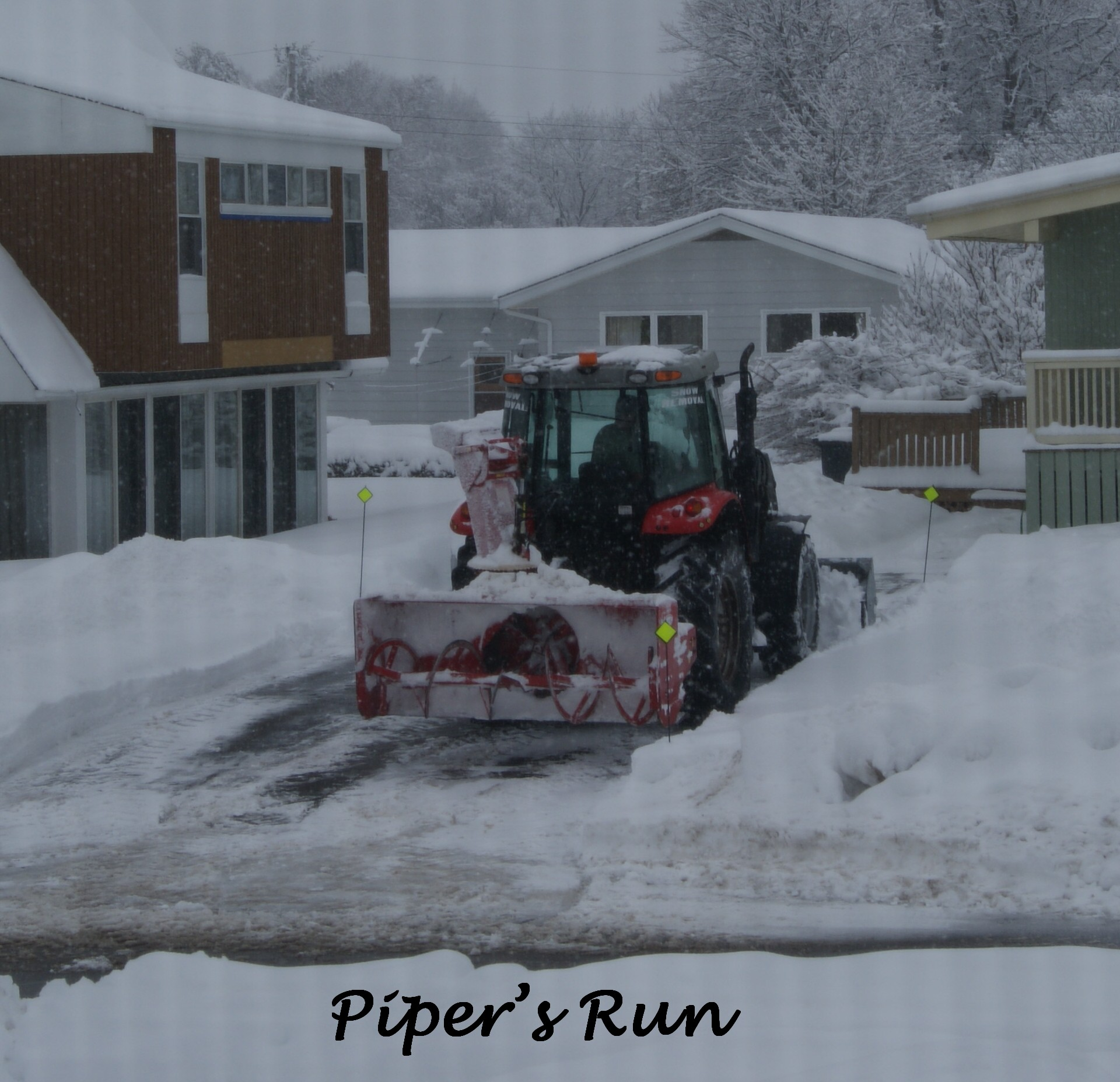 Two daddies plow outside