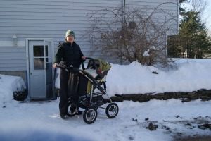 Anna and Hilary going for a winter stroll Jan 2013