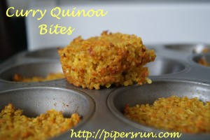 Curry Quinoa Bites