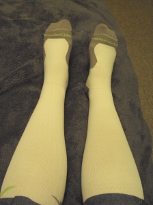 PRO Compression Socks on not so skinny legs - they fit!