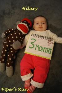 Hilary Elise - 3 months old