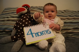 Hey YOU! I'm 4 months already!!!!