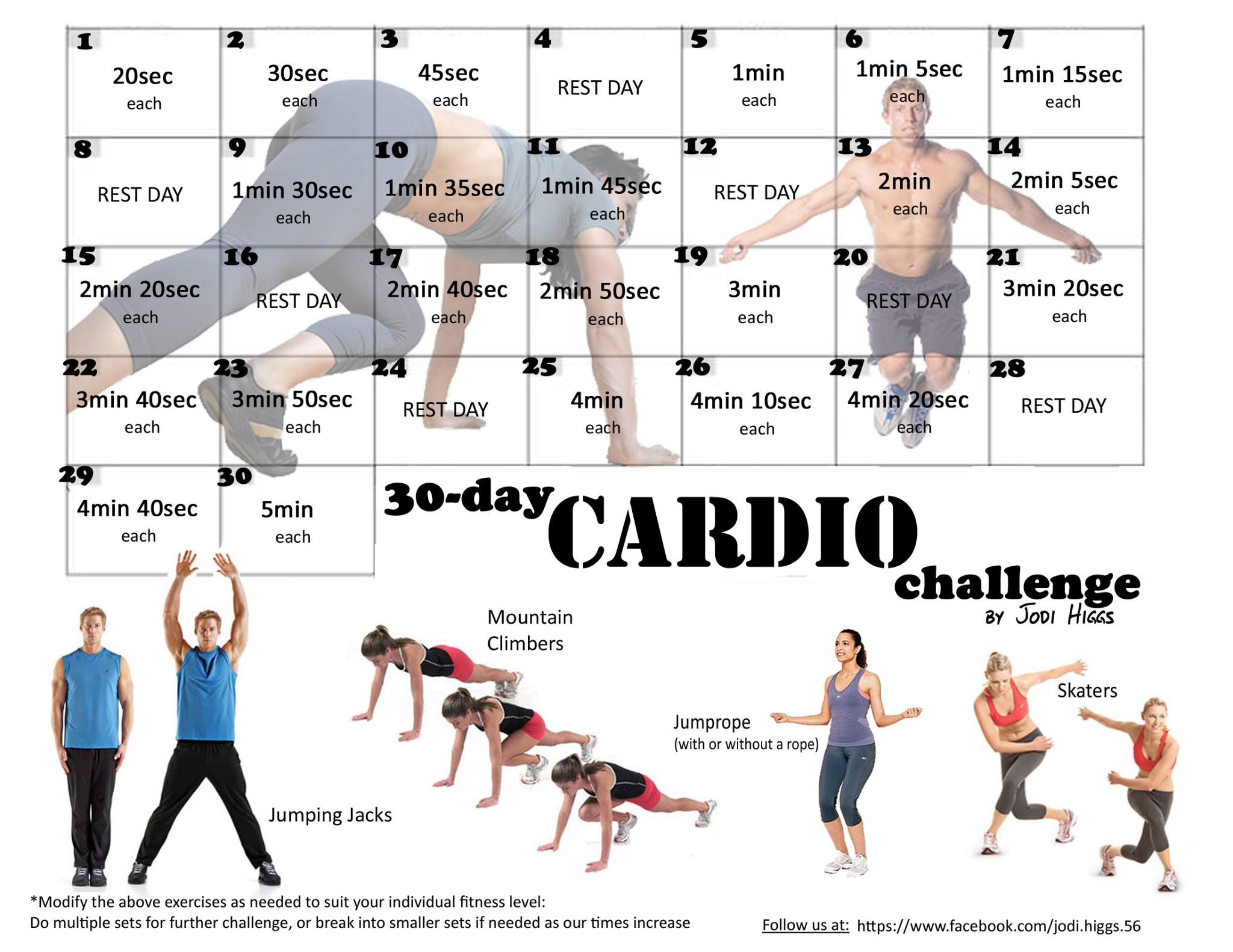 Fitness Good Beauty Diaries 30 Day Cardio Challenge
