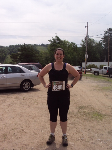 "Me before the run and the ""hill"" we climb!"
