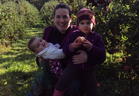 Apple picking with my girls