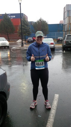 Me, excited to run in the rain!