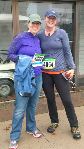 Post race happy runners