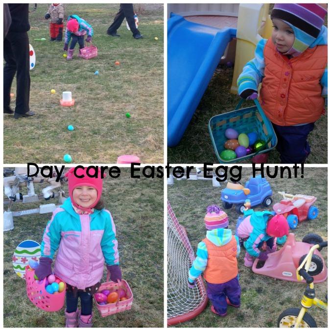 easter egg hunt at day care