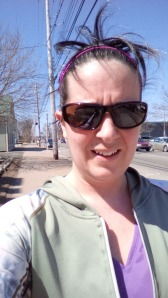 My confused and pissed of face after my run - don't be jealous of my hair.