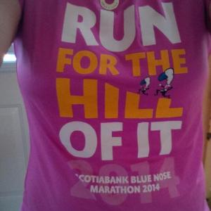 Run For The Hill of It (wore it post race)