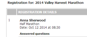 All registered - October 2014!