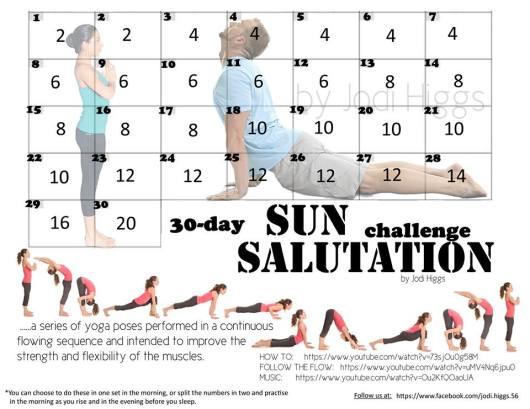 30 Day Sun Salutation Challenge