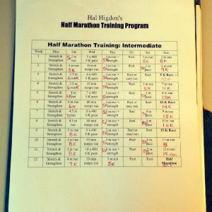 Piper's 1/2 Marathon Training Plan
