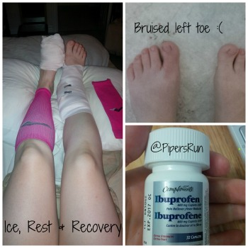 """Ice, Elevation, Rest and Vitamin """"I"""" to recover!"""