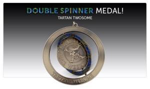 double spinner medal tartan twosome
