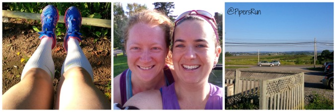 Happy before our 16k run