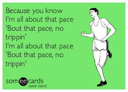 all about the pace