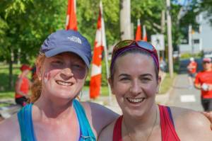 Krystol, my running buddy and I back in June (Epic Canadian)