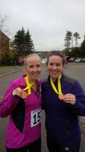 Anna and Samantha BLT run