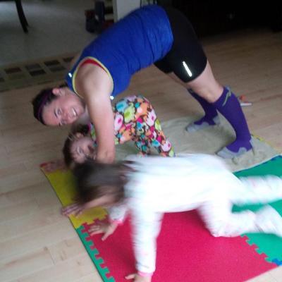 Yoga/Stretching post long run :)