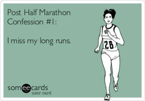 Post Run Marathon Confessions