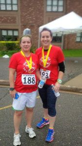 Tracey and I post race
