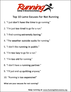running excuses