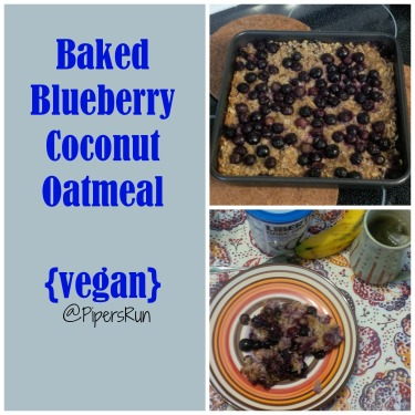 Baked Blueberry Coconut Oatmeal vegan PR