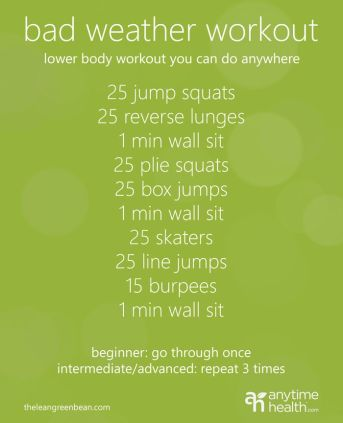 bad weather workout