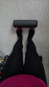 Foam rolling legs!