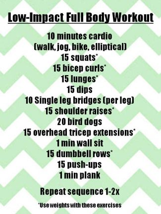 low impact workout