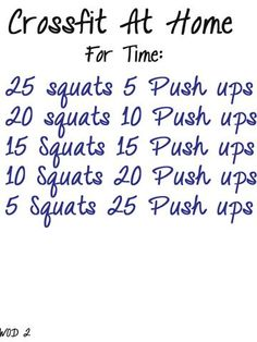squats at home cross fit