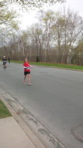 Tracey running strong!