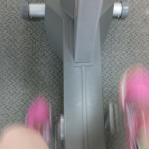 Fast legs on stationary bike