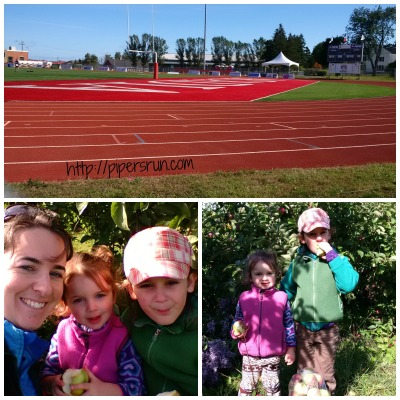 track and apples