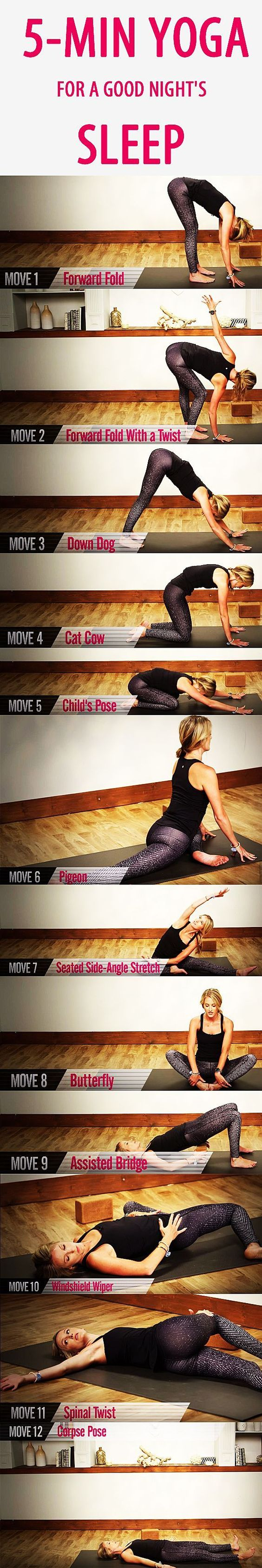 5 Minute Yoga Routine Before Bed